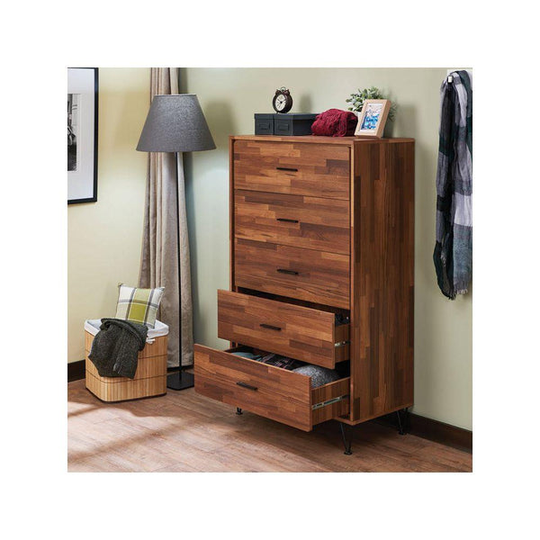 Multi Shade Wood Cabinet-Dresser-5 Drawer - Cabinets - Timberack - timberack.com