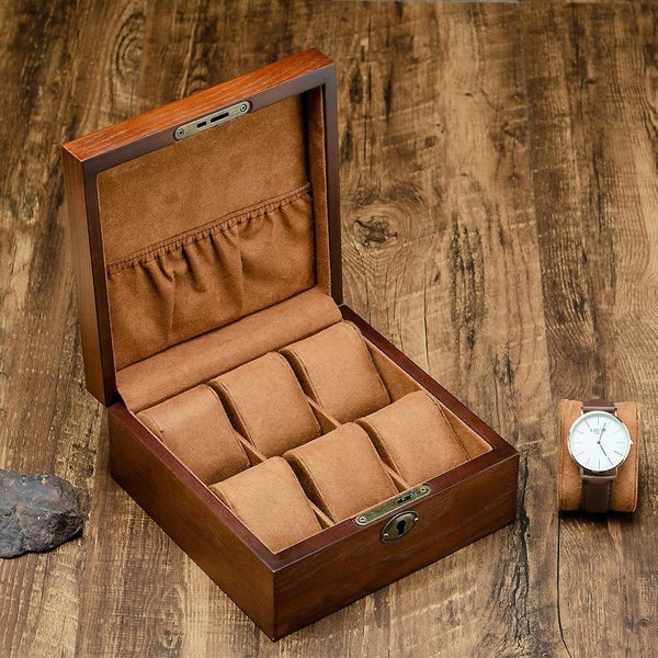 Travel Watch Keepsake Box-Portable Locking Organizer Case-2 Styles - Boxes - Timberack - timberack.com