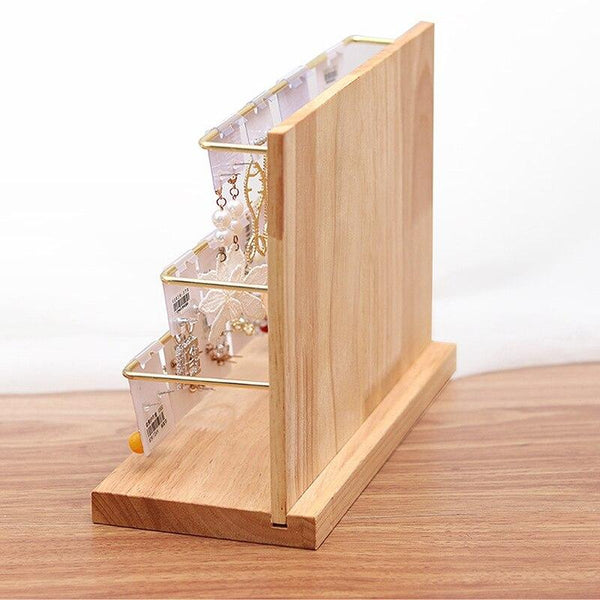 Jewelry Display Stand-Earring Organizer Stand-Individual Earrings, Carded Earring Pairs - Stands - Timberack - timberack.com