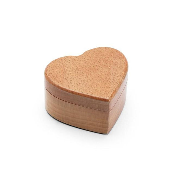 Heart Shaped Wedding Ring Bearer Box-Engagement Ring Holder-6*5.5*3.5 cm - Boxes - Timberack - timberack.com