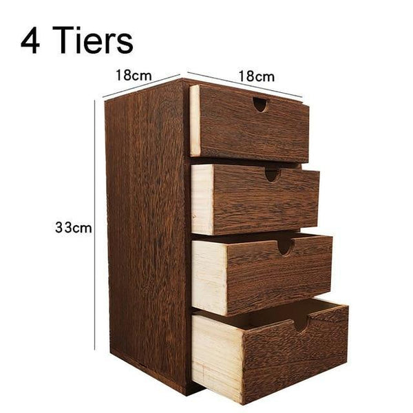 Tiered Drawer Cabinets-Stackable Drawer Organizers-2 Tier, 3 Tier, 4 Tier - Cabinets - Timberack - timberack.com