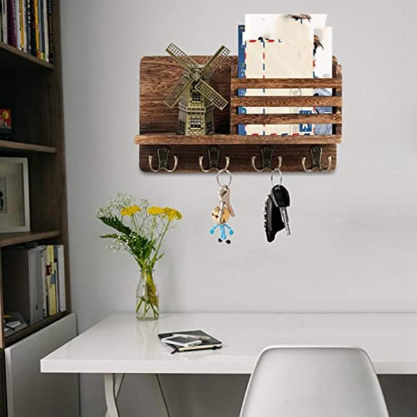 Entryway Key & Mail Storage Rack-Key & Mail Organizer Holder-29.97*17.8 cm - Wall Accessories - Timberack - timberack.com