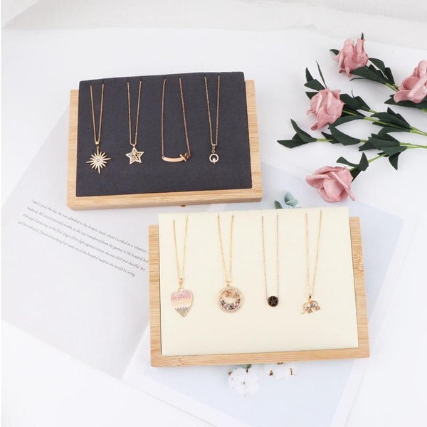 Jewelry Display Stand-Necklace Pendant Display Base-20.5*14.5*4 cm - Stands - Timberack - timberack.com