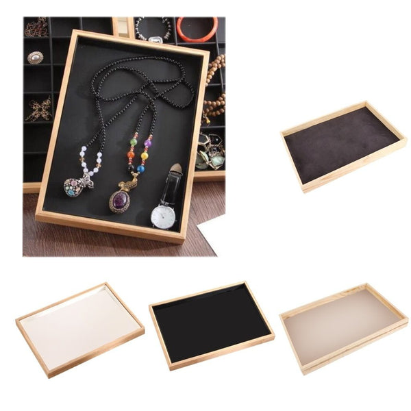 Jewelry Display Tray-Lined Organizer Storage Display Tray-35*24*3 cm - Trays - Timberack - timberack.com