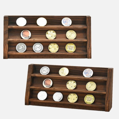 Wall Mounted Coin Display Stand-Coin Organizer Stand-32*2.29*11.4 cm