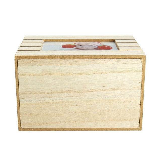 Photograph Keepsake Memory Box-Photo Album Memory Box-4 by 6 Photos-19*12.3*13.9 cm