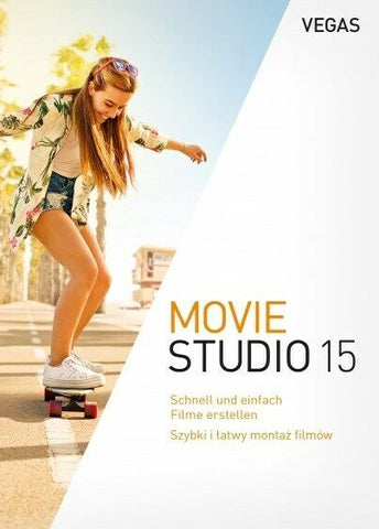 MAGIX VEGAS Movie Studio 15, Download License, New, Unregistered