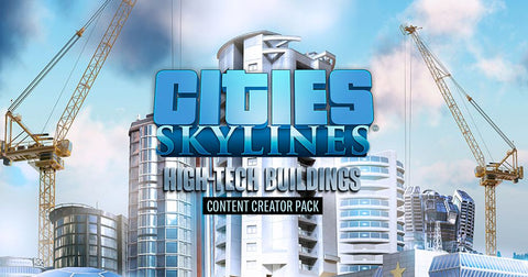 Cities: Skylines: High-Tech Buildings PC/Mac Steam - INSTANT DELIVERY 24/7 🔑🕹🎮