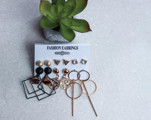 'So Extra' 6pc Earing Set