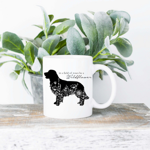 Be a Wildflower Dog Silhouette  | Mug