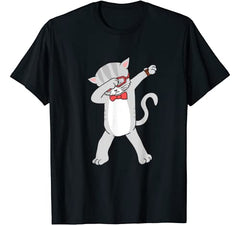 Dabbing Cat T-Shirt Funny Dab Gift Cat Tee T-Shirt
