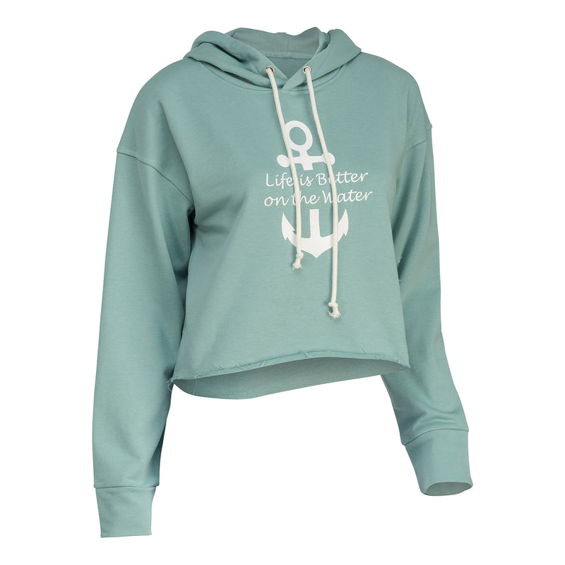 On the Water Cropped Hoodie