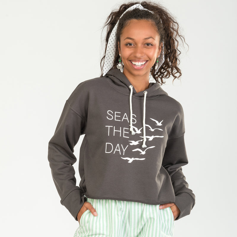 Seas The Day Cropped Hoodie