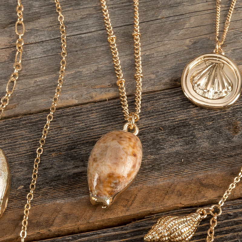 Gold Dipped Shell Necklace
