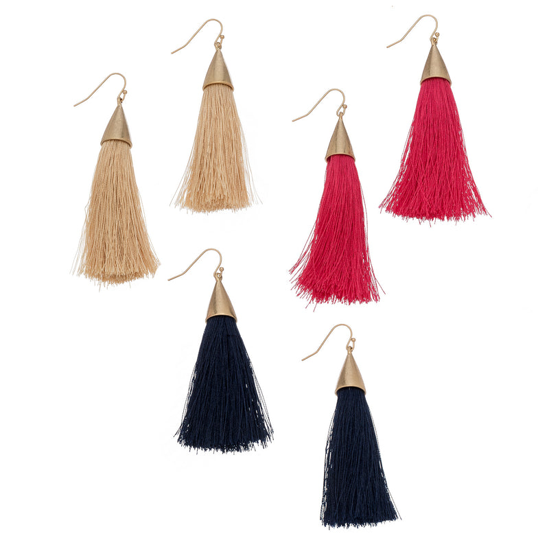Tassel Fish Hook Earrings