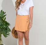 Button Accent Skort