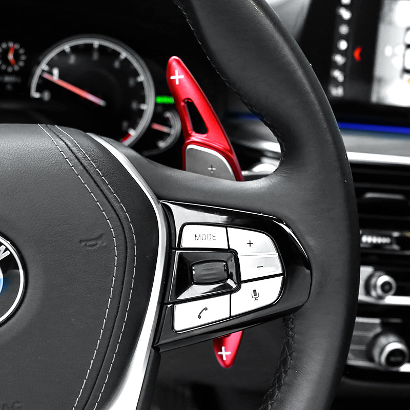 Black OP Steering Wheel Paddle Shifter Extensions Cover for BMW 5 Series G30 G31 G38 3 Series G20 X3 X4 X5