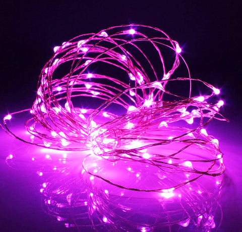 100-LED Seed Light (Copper) 10m - Pink