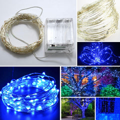 100-LED Seed Light (Silver) 10m - Blue