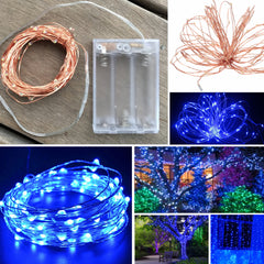 100-LED Seed Light (Copper) 10m - Blue