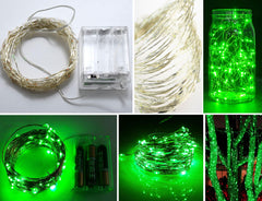 100-LED Seed Light (Silver) 10m - Green