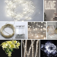 100-LED Seed Light (Silver) 10m - Pure White