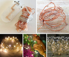 20-LED 2m Seed Light Copper String - Warm White