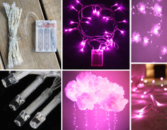 3m LED Fairy Light String - Pink