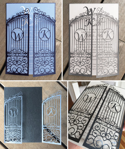 Personalised Gate Lasercut Invitation Jacket
