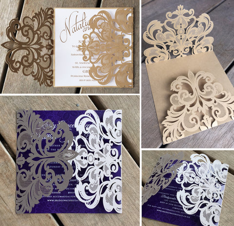 Antique Lasercut Invitation Jacket