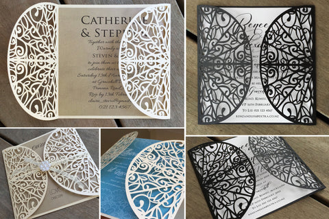 Carving Lasercut Invitation Jacket