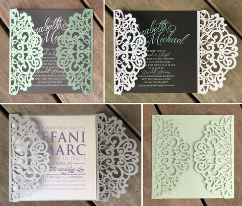 Filigree Lasercut Invitation Jacket