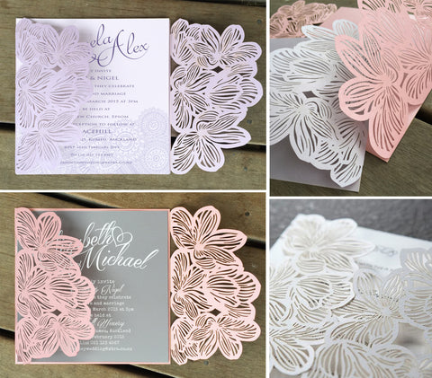 Flower Lasercut Invitation Jacket