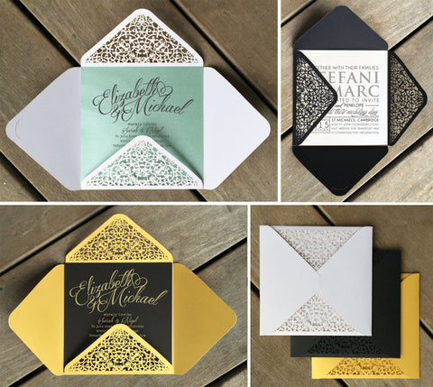 Lattice Lasercut Invitation Envelope
