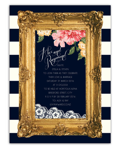 Gold Frame Invitation