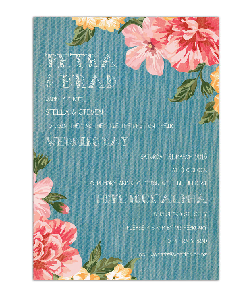 Chambray Watercolour Invitation