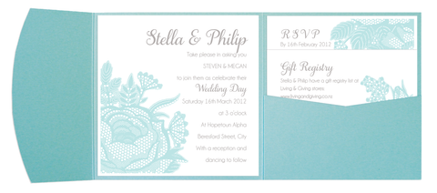 Tiffany Blue Pocket Invitation
