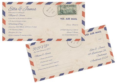 Airmail Invitation