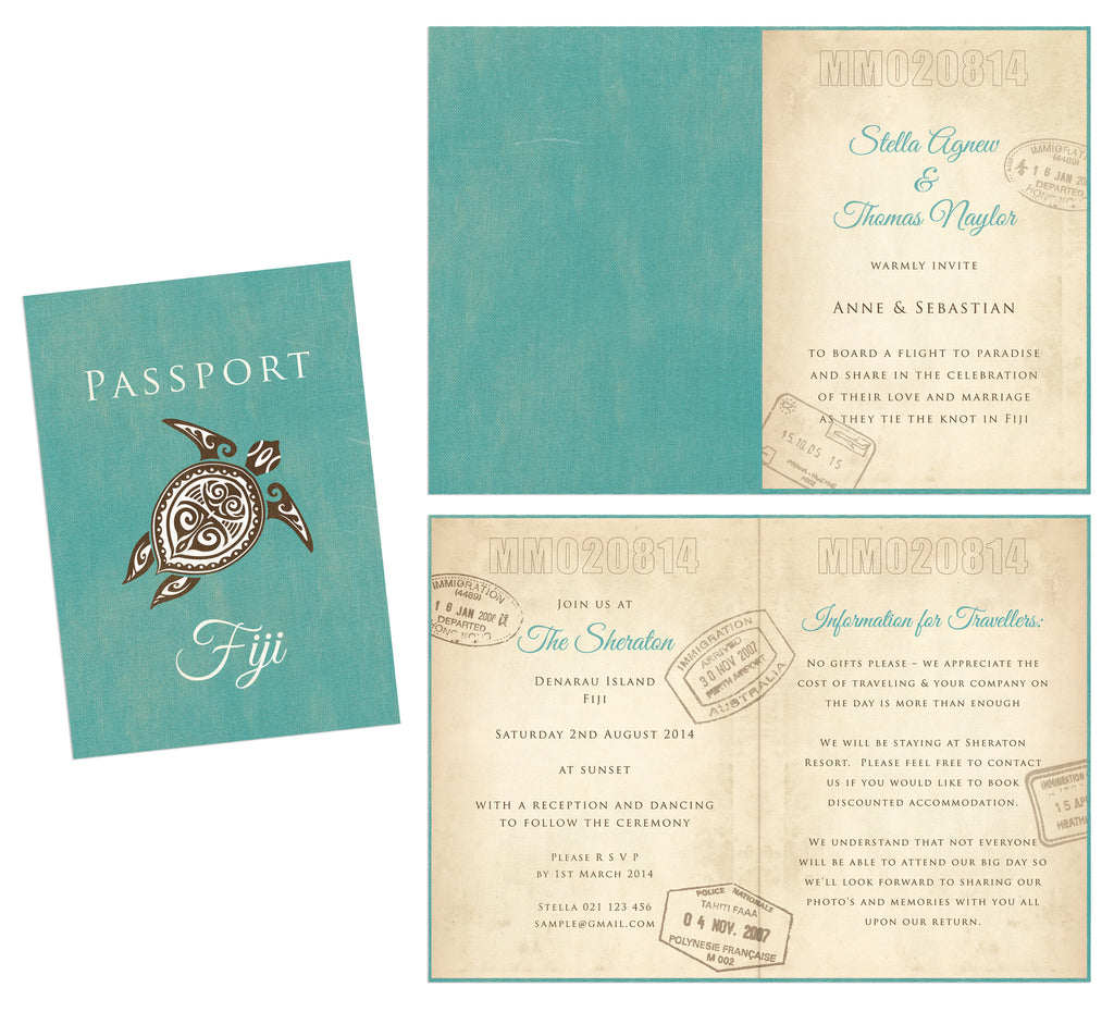 Passport Invitation Brides Best Friend