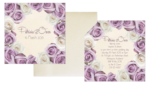 Rose Border Invitation