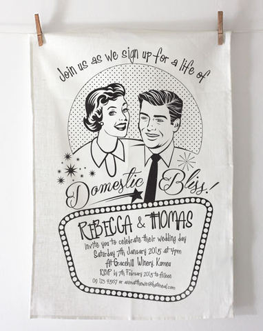 Teatowel Invitation