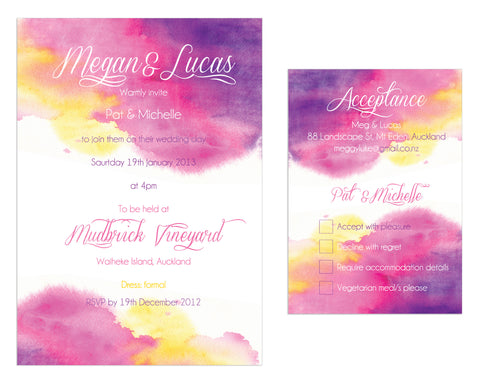 Watercolour Invitation