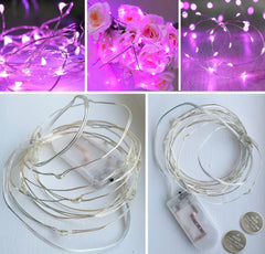 20-LED 2m Seed Light String - Pink