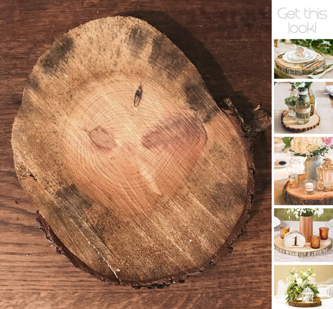 Wood Tree Slice Approx 27-31cm