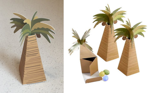 Coconut Palm Favour Box