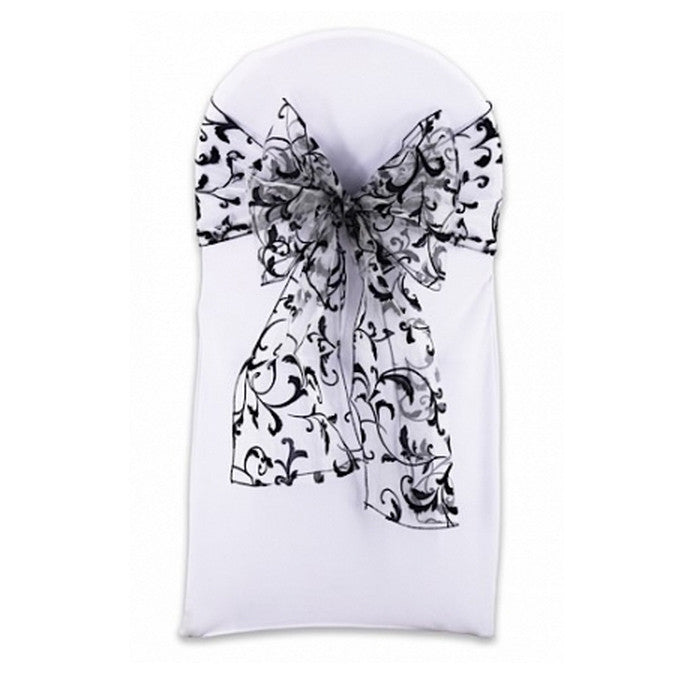 Damask Organza Chair Sash