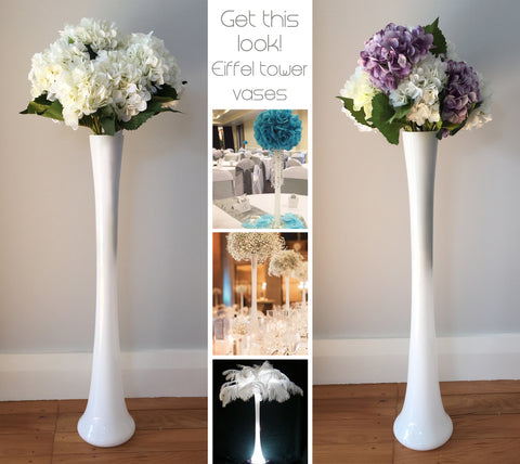Eiffel Tower Vase - White