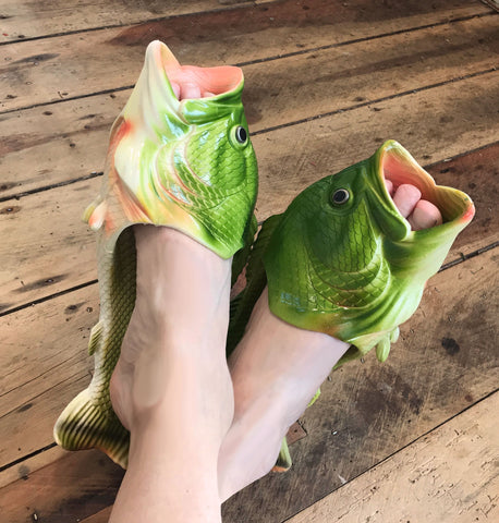 Fish Shoes / Slides - Green