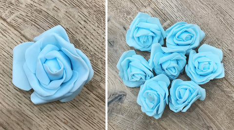 Artificial Foam Rose - Blue