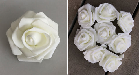 Artificial Foam Rose - Ivory